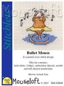 Mouseloft Ballet Mouse Stitchlets cross stitch kit